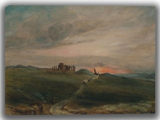 Constable, John: Stonehenge at Sunset. Fine Art Canvas. Sizes: A4/A3/A2/A1 (004124)